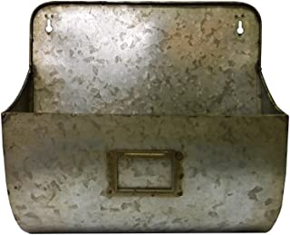 Colonial Tin Works Galvanized Wall Pocket Organizer