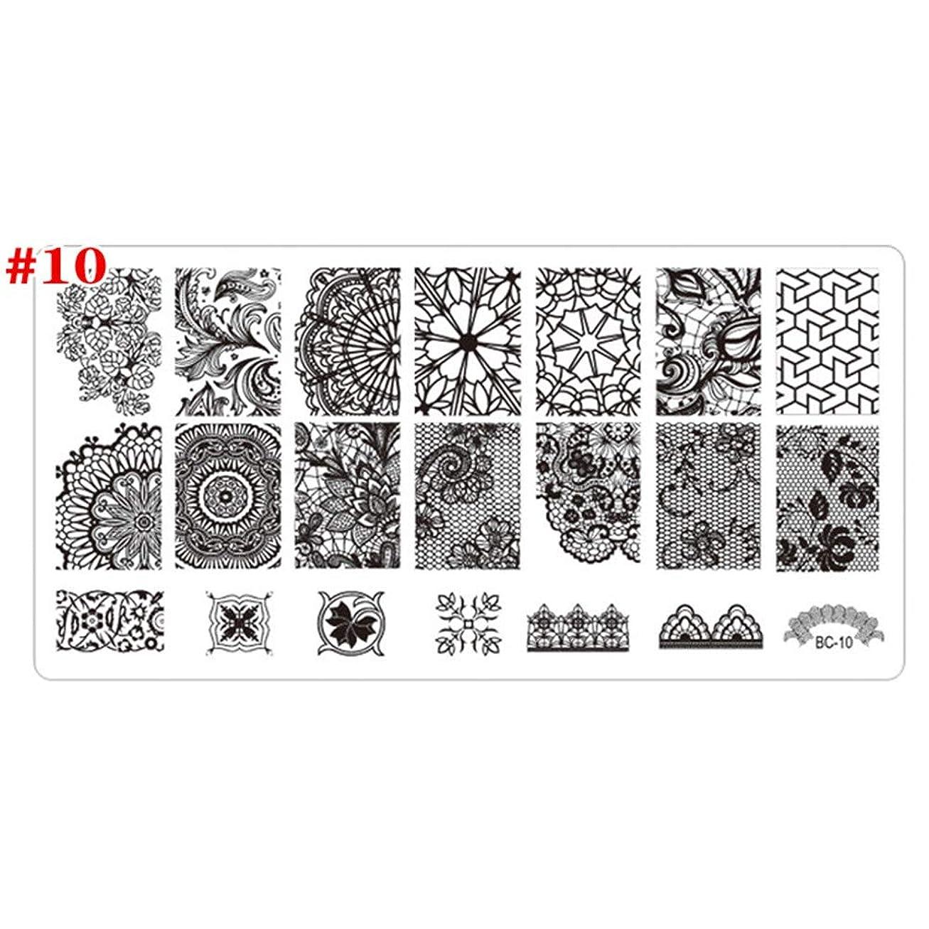 魔術省略蒸発する1st market プレミアム品質ラウンドフラワースタンピング印刷ネイルアートスタンプイメージテンプレートポーランドネイルステンシルマニキュア10#