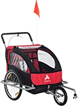 Aosom Elite 2-In-1 Double Child Two-Wheel Bicycle Cargo Trailer And Jogger With 2 Safety Harnesses