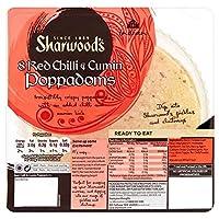 Sharwood's Spicy Chilli & Cumin Poppodums Ready to Eat (8 per pack) 食べて準備sharwoodのスパイシー唐辛子とクミンpoppodums (パックあたり8 )