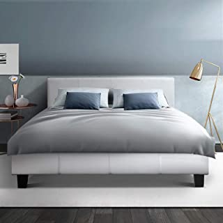 Artiss Queen Bed Frame Leather White