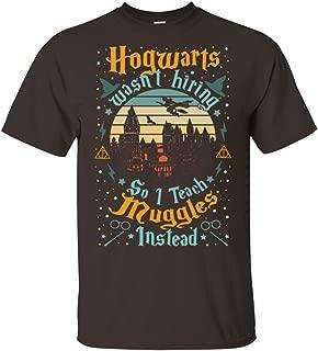 Vintage I Teach Mugles Instead Funny Halloween Teacher T-Shirt for Potterhead