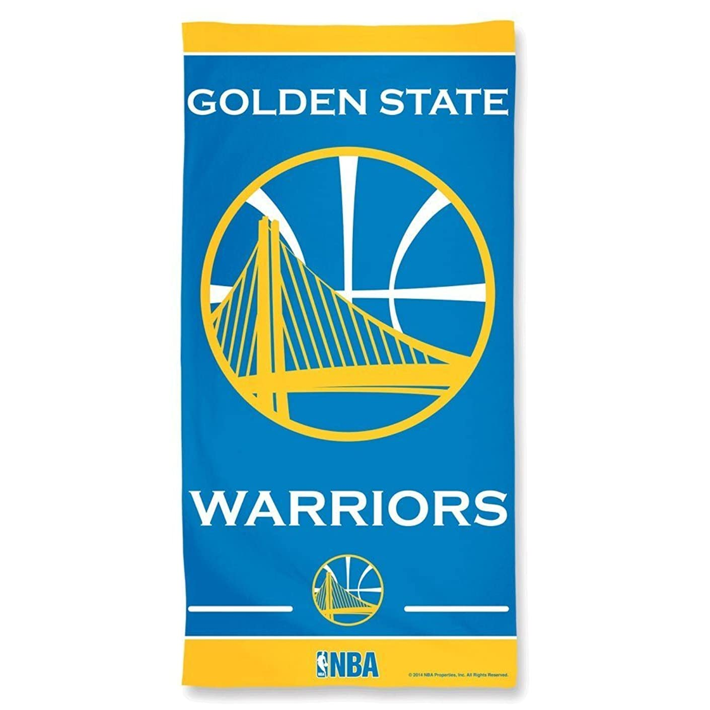 腫瘍滞在ストライプNBA Golden State Warriorsビーチタオル2015デザイン30?x 60