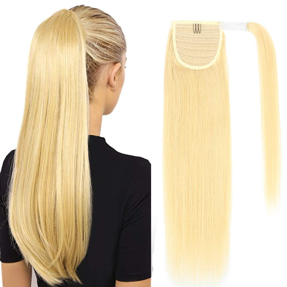 Ponytail Nippon Ranking TOP19 regular agency Extension Human Hair 18inch 80g Around Clip Wrap in Pon