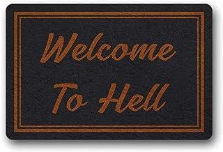 LDHHZ 3D Printing Door Entrance mat Entrance Floor Mat Funny Doormat Welcome to Hell Home Decorative Indoor Outdoor Doorma...