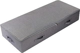 AMX 100 * 43 * 18 cm sous Le lit Chaussures Organisateur de Stockage conteneurs avec Couvercle, étanche à la poussière et ...