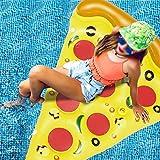 YSPS Pizza Inflable de Agua Fila Flotante Flotante de Cama Flotante-Adulto Cama de Aire Inflable Pizza Sillón, Parque de Agua de Verano Piscina Piscina Juguetes-180x150cm