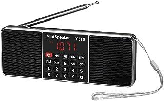 Beauenty Y-618 Mini FM Radio Digital Portable Dual 3W Stereo Speaker MP3 Audio Player Fidelity Sound w/ 2 Inch Display Scr...
