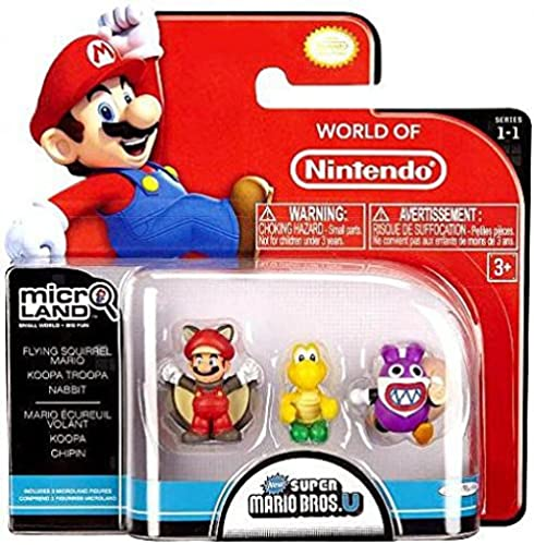 Super Mario Bros U Micro Land Figuren 3er Pack Flying Mario, Koopa Troopa und Nabbit