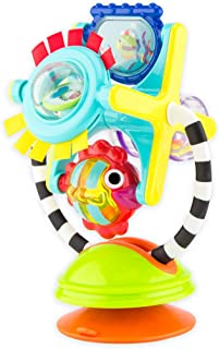 Sassy Fishy Fascination Station 2-in-1 Suction Cup High Chair Toy | Developmental Tray Toy for Early Learning | For Ages 6...