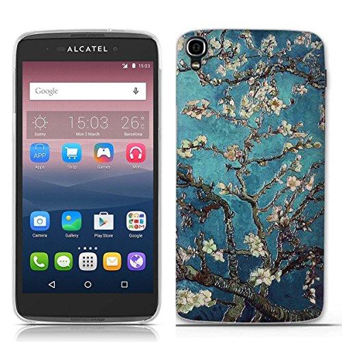 FUBAODA for für Alcatel one Touch Idol 3 (5.5 inch) Hülle, 3D Erleichterung Klassische Blume Muster TPU Hülle Schutzhülle Silikon Hülle für for für Alcatel one Touch Idol 3 (5.5 inch)