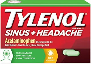 Tylenol Sinus Plus Headache Daytime 24 Caplets (6 Pack)
