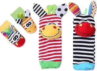 Adorable Animal Infant Baby Wrist Rattle & Foot Finder Socks