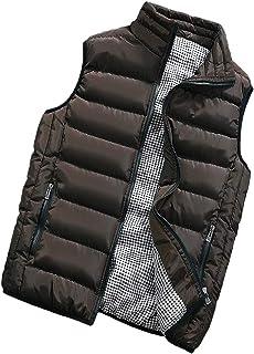TieNew Men Lightweight Gilet Vest Zip Up Warm Sleeveless Jacket Coat Body Warmer,Men's Sleeveless Warm Vest