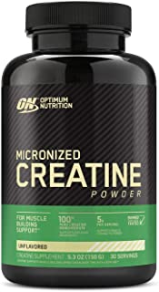 Optimum Nutrition Micronized Creatine Monohydrate Powder, Unflavored, Keto Friendly, 30 Servings, 5.3 Ounce (Packaging May Vary)
