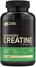 Optimum Nutrition Micronized Creatine Monohydrate Powder, Unflavored, Keto Friendly, 30 Servings (Packaging May Vary)