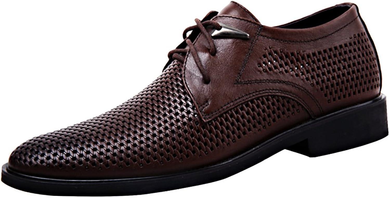 LOUECHY Men's Oxford shoes Genuine Leather Dress shoes Classic Wingtip shoes