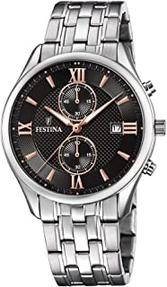 Festina F6854/6 Stainless Steel Dial Round analog Watch for Men