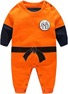 Dragon Ball Z Cosplay Infant and Toddler Bodysuit Footies,Goku Modeling