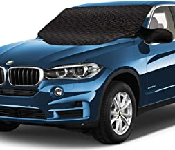 MITCIEN Vehicle Car Windshield Snow Cover Window Ice Protector Defense Waterproof for All Cars SUV, Double Side Sun Shade with Magnetic Edges Mirrors Covers and Ice Scraper