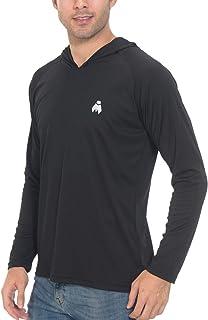 تی شرت مردانه Midubi آستین بلند Rash Guard UPF 50 محافظت در برابر اشعه ماورا بنفش تی شرت گلف در فضای باز ماهیگیری در حال اجرا پیراهن با کلاه