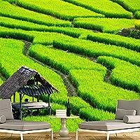 カスタム壁画3D壁紙緑の風景テレビ壁リビングルーム寝室壁画写真壁紙装飾アートフレスコ-200x140cm