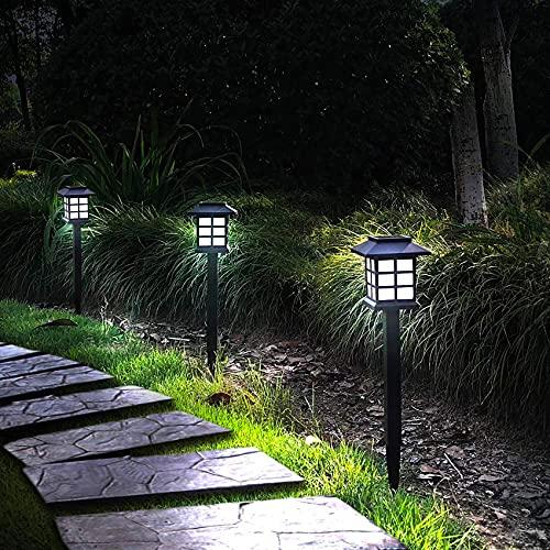 Otdair 12 Pack Solar Pathway Lights Outdoor, Waterproof Solar Garden Lights, Solar Walkway Lights for Garden, Patio, Yard, Landscape, Pathway, Driveway, Lawn(Cold White)