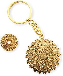 Expo 2020 Dubai Symbol Pin Gold and Keyring Gold Pack of 2