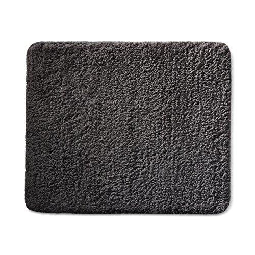 casa pura Tapis de Bain série Premium | certifié Oeko-Tex 100 - Poils très Doux | Tailles et Couleurs au Choix - Gris foncé 60x100cm