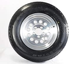 Two Radial Trailer Tires On Rims ST205/75R15 205/75-15 5 Lug Aluminum Modular