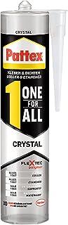 Pattex 1990625 One for All Crystal montagelijm, extra sterk hechtende alleslijm zonder oplosmiddel, combineert montagelijm...
