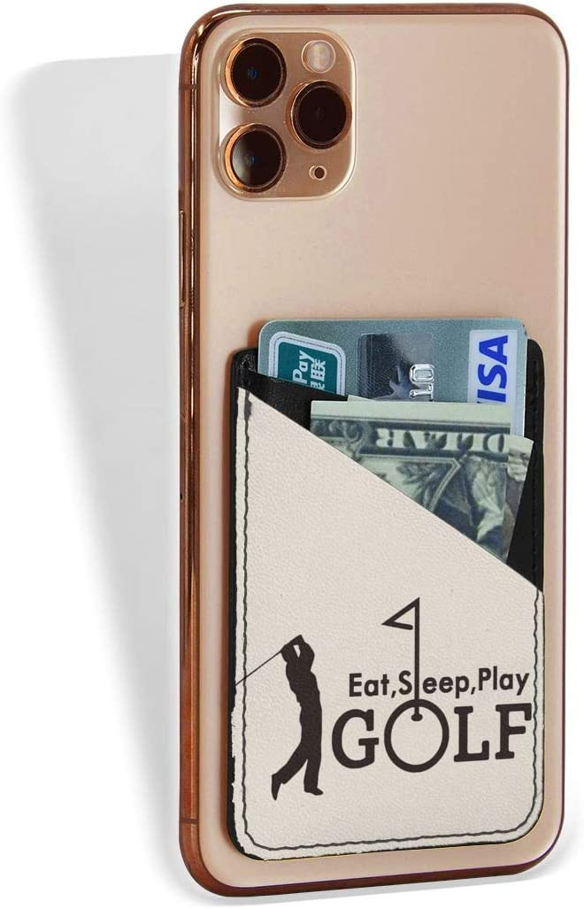 Cell Phone Card Popular standard Holder Eat Sleep Stick Low price Golf On Wallet P Adhesive