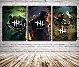 Artwcm Dead by Daylight 3PCS Oil Paintings Modern Canvas Prints Artwork Printed on Canvas Wall Art for Home Office Decorations-32 (Unframed,16x24inchx3)