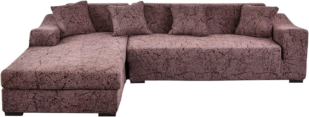 Sectional Sofa Slipcovers L Credence Shape 2 Couch service Pcs St Cover