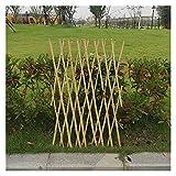 LIXIONG Cerca De Jardín, Soporte Extensible De Vid De Celosía De Bambú, Patio Terraza Exterior, Estante Colgante De Decoración De Pared Interior, 2 Colores, 4 Tamaños