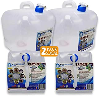 Using for Outdoor Activity or Indoor 1.3//2.6//5.3Gallon Faceking Collapsible Water Container with Spigot,Portable Water Carrier,Foldable Water Storage
