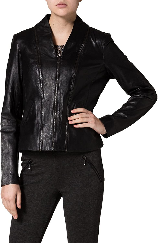 Brand New Genuine Soft Lambskin Leather Jacket For Women's Designer Wear LFWN157