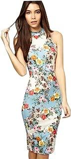 Women Cheongsam Dress, Zulmaliu Elegant Floral Slim Fit Shaped Dresses Sleeveless Chinese Qipao