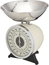KitchenCraft Classic Collection Mechanical Kitchen Scales with Bowl, Cream, 2 kg Capacity