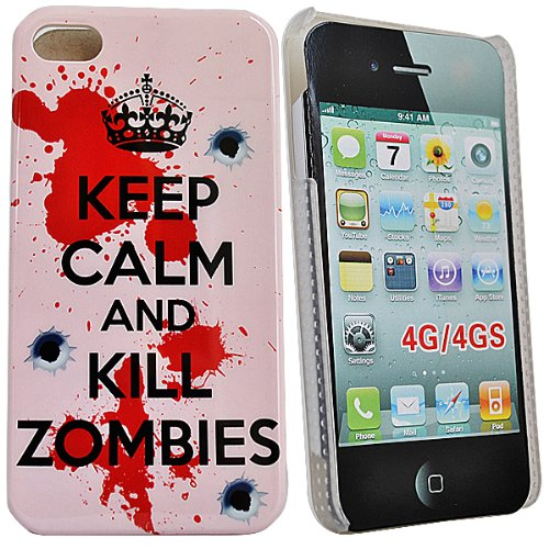 Accessory Master Keep Calm and Kill Zombies harde beschermhoes voor Apple iPhone 4S
