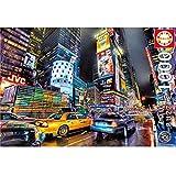 EastMetal Times Square Puzzles con Piezas de 1000 Piezas,64x48cm / 25x19in Puzzle de Piezas Adultos para Niños Rompecabezas de Cartón para Adultos, Juegos Educativos, Rompecabezas de Desafío Cerebral