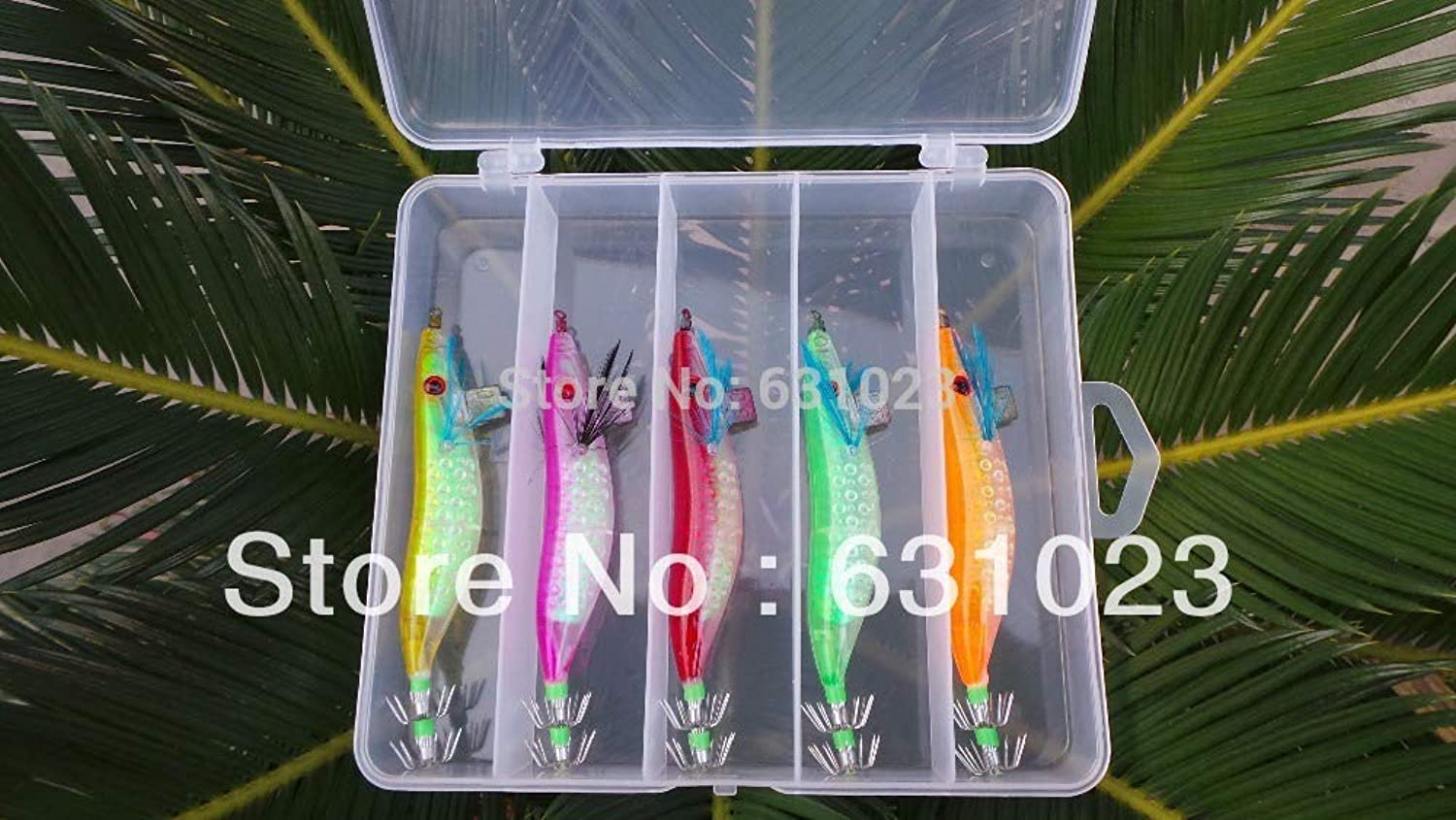 Generic MR Octopus 10pcs Fishing Lure,Squid jig,Squid Hook, 3.0  11.5cm,16g,Packed with a Box.Five Colour Mixed.