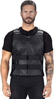 Viking Cycle Revolver Leather Motorcycle Vest for Men