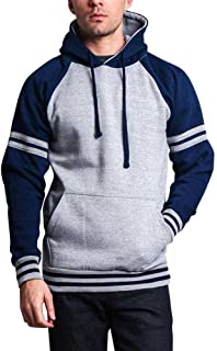G-Style USA Premium Heavyweight Contrast Raglan Sleeve Pullover Hoodie Sweatshirt