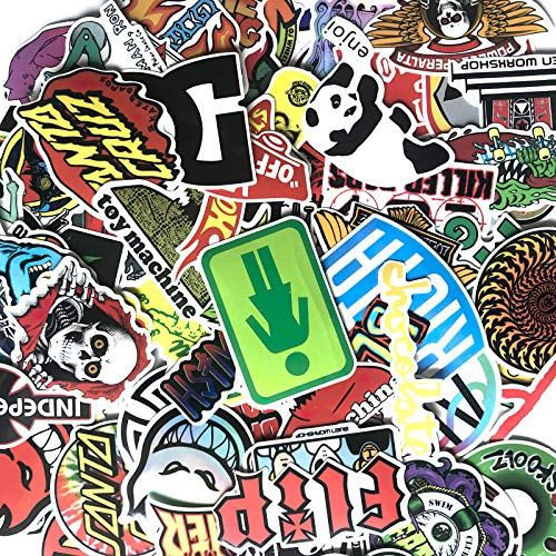 100 Cool Skateboard Fashion Stickers for Suitcase Skateboard Laptop Luggage Fridge Phone Car Styling Decal Waterproof