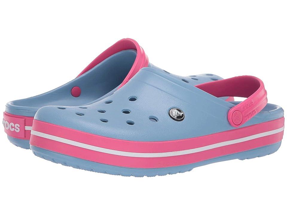 Crocs Crocband Clog (Chambray Blue/Paradise Pink) Clog Shoes