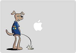 Grappige hond MacBook stickers - Windows hond met een wee Decal