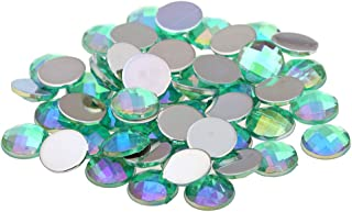 Nizi Jewelry Light Green AB Color Round Shape Acrylic Rhinestones Flatback Earth Faceted Strass Gems 3D Nail Art Decorations Craft Art Accessories 10MM 1000PCS