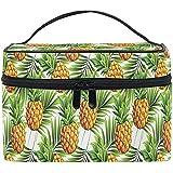 Ananas Tropical Design Cosmetic Bag Travel Cosmetic Brush Bag Storage Organizer Large for Women