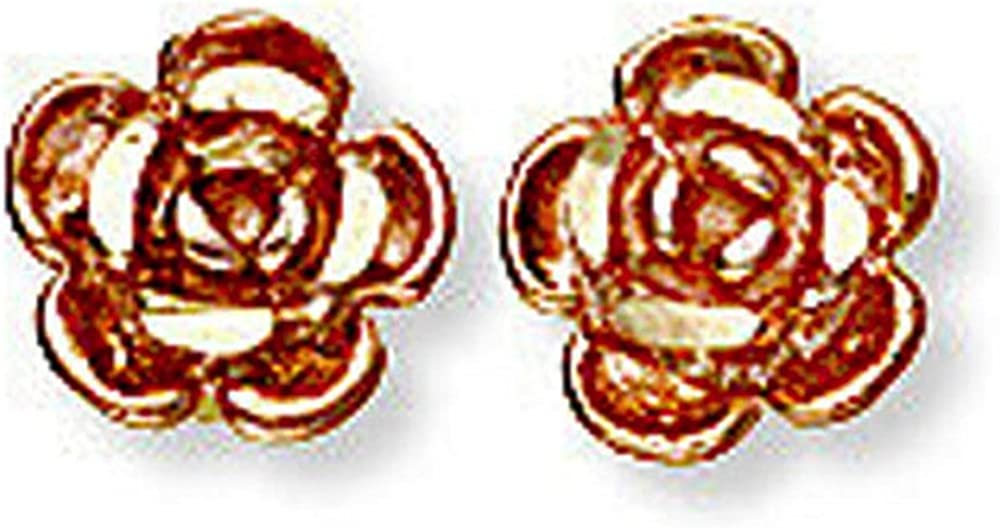 Landstroms 10k Black Hills Gold Rose Earrings with for Post Max 90% OFF Pie Product